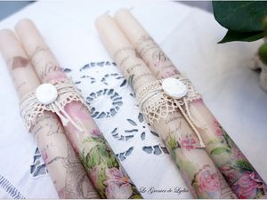 Nouvelles bougies shabby chic