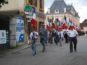 Inauguration place ''Bleuet de France'' à Aoste