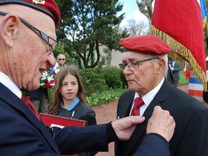 Cérémonie du 8 mai 2017 à Saint Romain de Jalionas et la Médaille Militaire pour Albert REIX