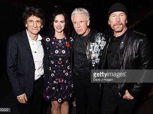 The Edge et Adam à la cérémonie des Q awards à Londres 02/11/2016