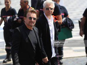 Bono et Adam Clayton à Nice 14-07-2017