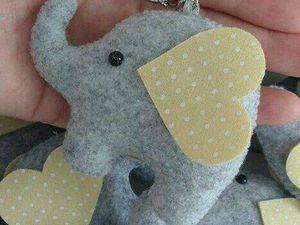 Porte clé éléphant en feutrine