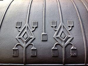 Radiateur parmi les plus rares Chauffe-plats DeDietrich , motifs incas , période 1900 . Radiateur de collection