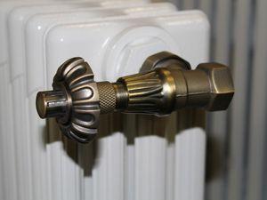 """Robinet thermostatique équerre kit laiton ou chrome 15x21 1/2"""" + Té de réglage + purge 139€ avec une garantie de 5 ans"""