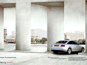 L'Audi A6 change les perspectives (Relativité d'Escher)