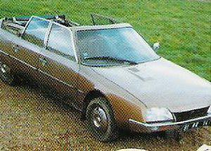 Citroën CX découvrable à toit rigide et escamotable, de 1989, imaginée et fabriquée par Philippe Josseau.