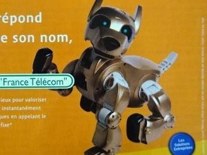 Le chien-robot 2, france telecom, 2001, Marketing magazine, avril 2001, Cl. Elisabeth Poulain