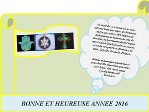 Diverses cartes de vœux 2016 harkis