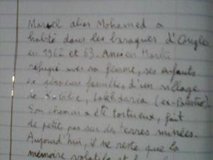 Une page d'Histoire des familles de harkis du hameau de forestage d'Ongles s'expose au Musée et jardin botanique du Prieuré de Salagon