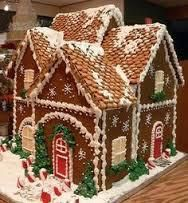 Maison de biscuits pour Noël