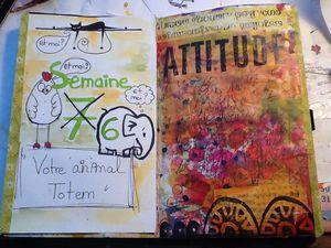 positiv attitude art journal février