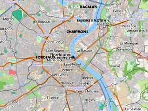 Plan de la ville et du secteur nord de Bordeaux