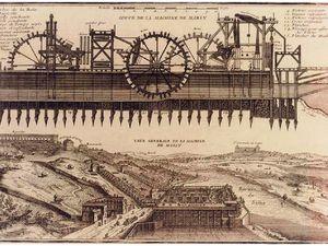 La première Machine de Marly : dessin et peinture d'époque