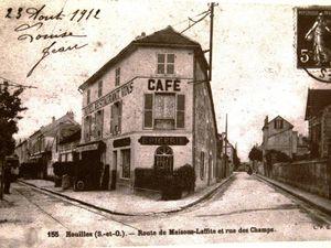 Le tramway N° 62 Route de Maisons-Laffitte, actuellement boulevard Henri Barbusse (à droite)