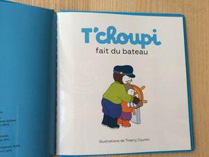Tchoupi fait du bateau. Éditions NATHAN. Auteur Thierry Courtin.