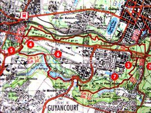 Le circuit du TopoGuide et le tracé GPS de Férid et Patrick : une petite boucle de fin de randonnée évitée.