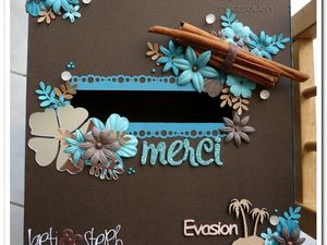 Urne/boîte à rêve Laeti &amp&#x3B; Steph - Turquoise &amp&#x3B; chocolat - Exotique