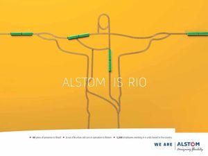 Pub de la semaine : Alstom is ... Paris, Mexico, Rio ...