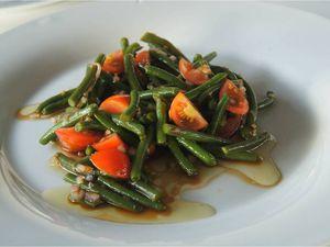 Salade haricots verts et saumon