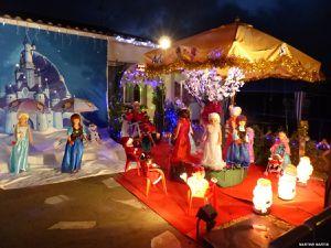 Illuminations de Noël d'une maison aux Sables d'Olonne