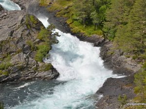 La rivière est un vrai spectacle !