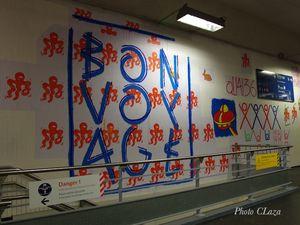 Gare du Nord, les murs ont des couleurs avec le collectif Quai 36