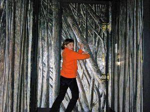 realisation d'une peinture marouflée sur les murs d'un couloir