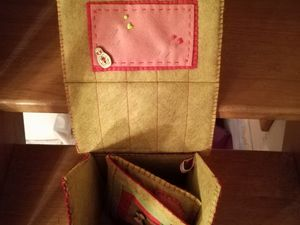 Intérieur /  Pochette pour épingles / Grigri de ciseaux