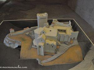 Maquette de l'abbaye de MontMajour.