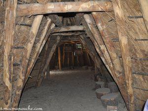 L'intérieur de la cabane.