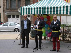 Inauguration d'une plaine de jeux place Van Ysendyck