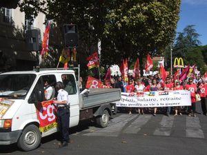 800 Personnes ce matin dans les rues d'Alès