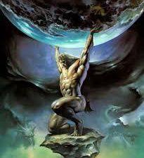 Atlas, le titan, porte le monde.