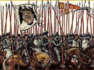 """Vétéran des guerres de la """"reconquista"""", les conquistadores étaient de véritables machines à tuer, à violer et à piller. Une poignée de ses salopards sévèrement burnés suffit à détruire des empires !"""