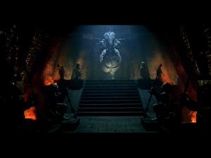 """Les films """"Aliens VS Predator"""" nous décrivent la lutte opposant symboliquement deux aspects des Nephilims : l'esprit serpentiforme et le corps physique de """"géant""""."""