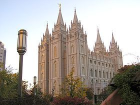 1/ Savoy Hotel Londres. 2/ Temple Mormon de Salt Lake City.