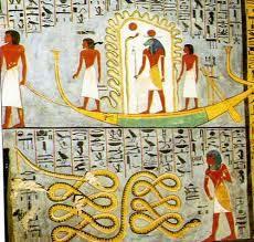 Apophis dans l'iconographie égyptienne est voué à la défaite et à la mutilation.