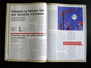 Le travail plombe le sommeil - Revue Santé &amp&#x3B; Travail n°91