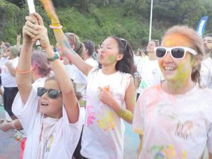 Rainbow race: la course haute en couleurs
