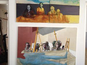 Exposition de la série  &quot&#x3B; Ateliers&quot&#x3B;, à l'atelier de Jacqueline et Joël Jouanneau.