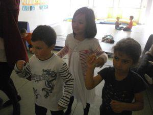 Activité danse/jeu vidéo avec le groupe des 6/7 ans
