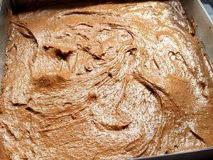 Préparation du brownie en image