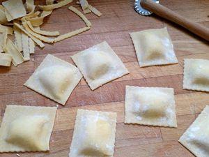 Raviolis maison ricotta et parmesan