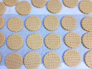Biscuits shortbread au café et chocolat