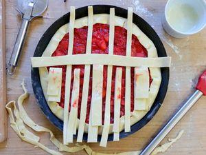 Galette fraises et pommes