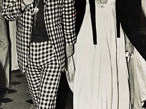 Jagger and Bianca in 1971 (pictured left)&#x3B; and the suit he wore (pictured right)