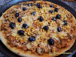 PIZZA A LA DINDE ET AUX CHAMPIGNONS