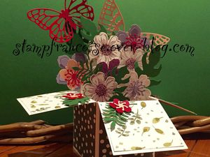 Carte POP UP STAMPIN UP