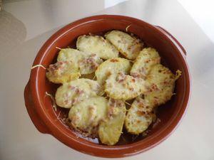 Bonne dégustation ! Nous avons également cuisiné ce jour là, des pommes de terres gratinées aux lardons et crèmes fraîches ! Que du light ! Mais tellement bon  ♥♥♥