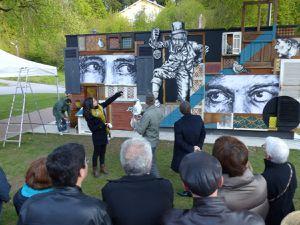Premier affichage d'un duo sur &quot&#x3B;Le Mur&quot&#x3B; d'Epinal